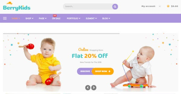 berrykid – seo friendly wordpress theme