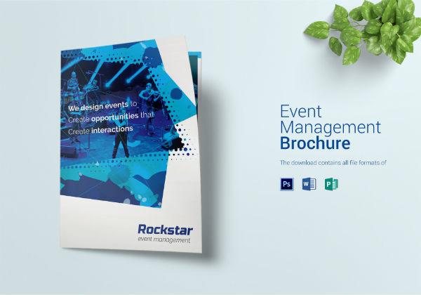 bi fold corporate event brochure template