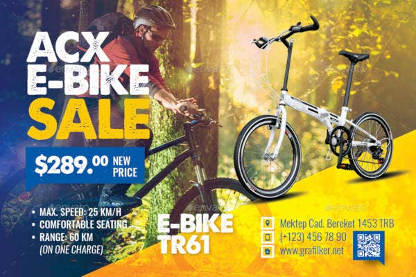 bicycle sales postcard