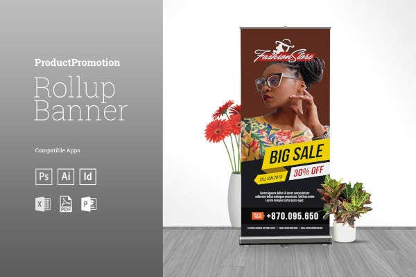 big sale promotion rollup banner