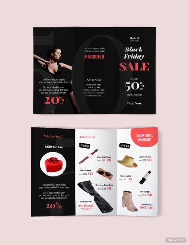 black friday sales brochure