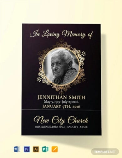 black-funeral-thank-you-card-template