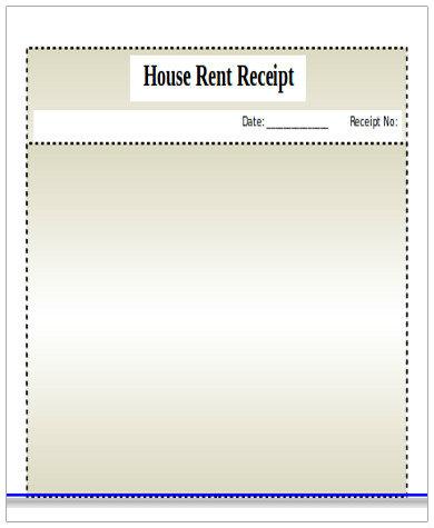 blank house rent receipt format