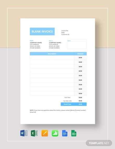 48 Blank Invoice Templates Ai Psd Google Docs Apple Pages Free Premium Templates