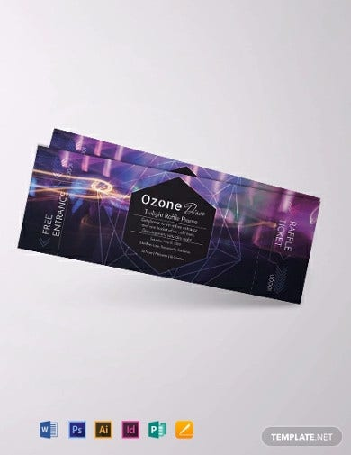 blank raffle ticket template