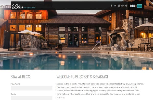 bliss – responsive wordpress theme