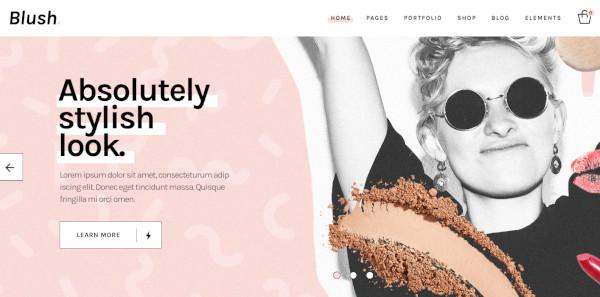 blush retina ready wordpress theme