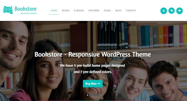 book store – 3 layouts wordpress theme