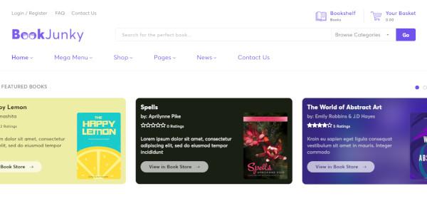 bookjunky – customer friendly wordpress theme