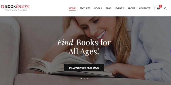 booklovers – responsive wordpress theme
