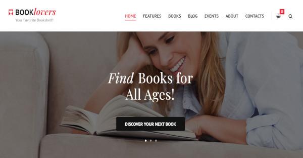 Booklovers - Mobile Friendly WordPress Theme