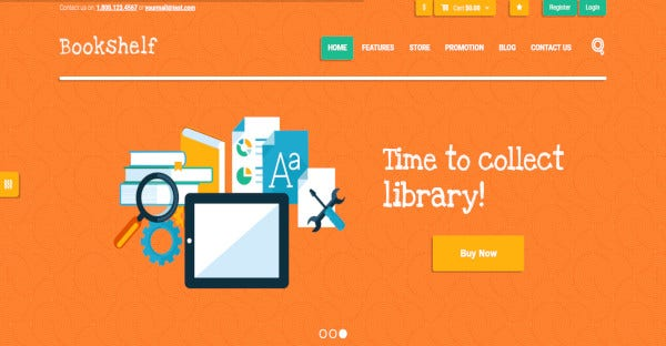 Bookshelf - SEO Ready WordPress Theme