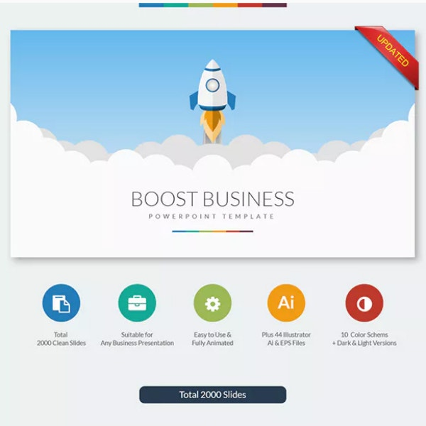 Boost Colorful Business PowerPoint Sample
