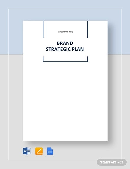brand strategic plan template