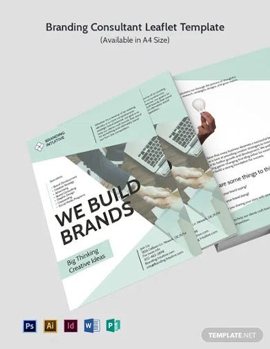 branding consultant dl card template