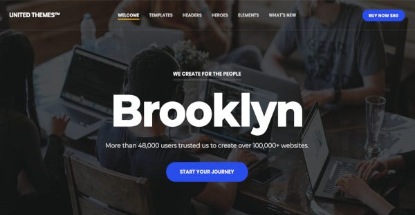 brooklyn 42 pre built pages wordpress theme
