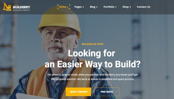 builderry seo optimized wordpress theme