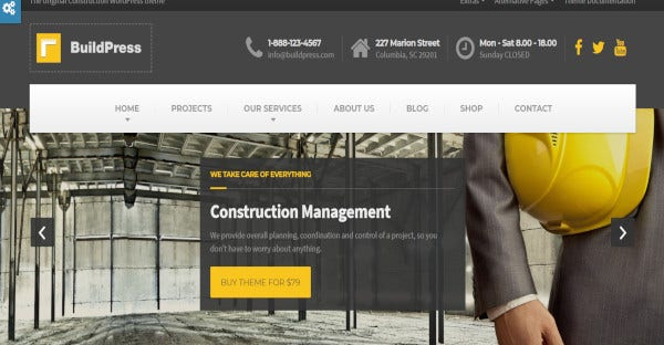 buildpress woocommerce wordpress theme
