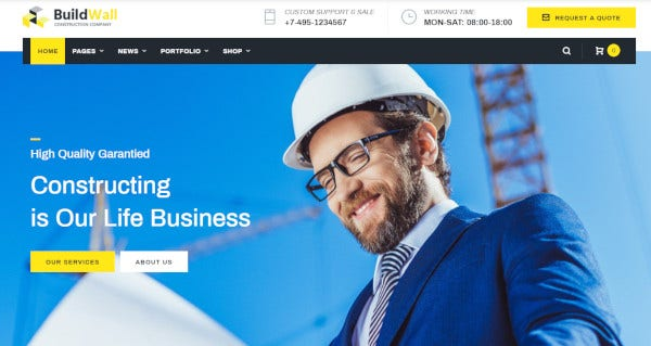 buildwall-100-editable-wordpress-theme