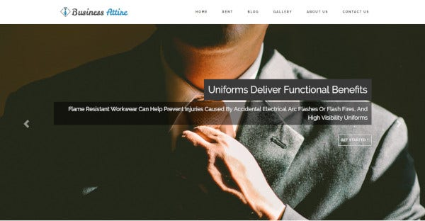 business attire – support all major browsers wordpress theme template