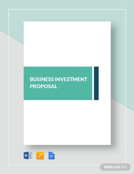 business investment proposal template