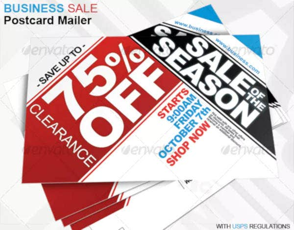 business sale postcard