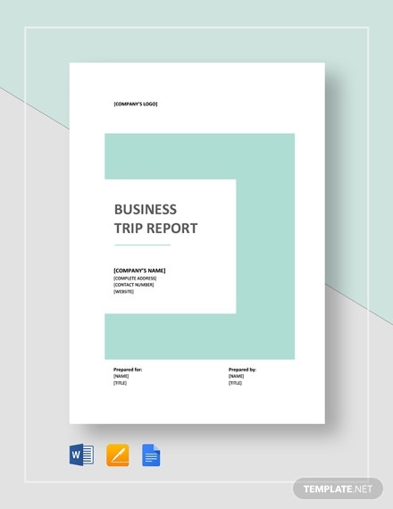 business trip report2