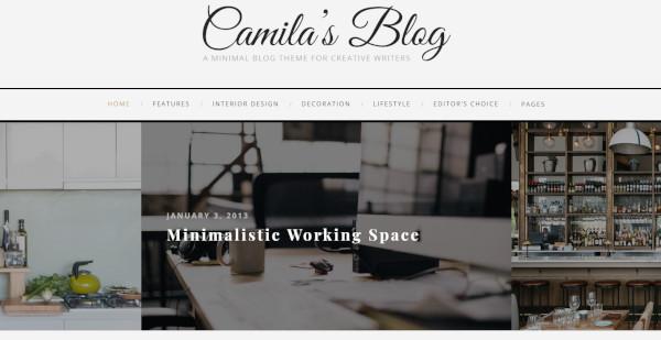 camila revolution slider wordpress theme