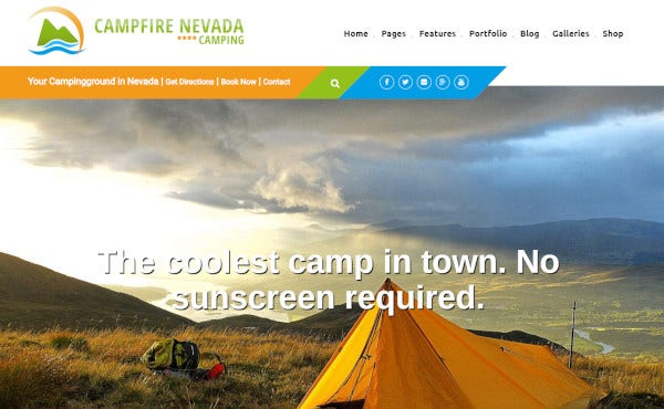 campfire 600 google fonts wordpress theme