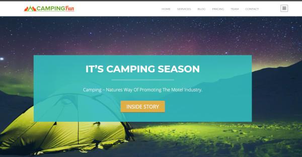 campingfun booking valley plugin wordpress theme