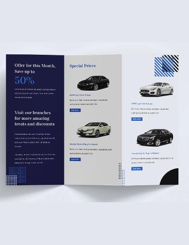 car sales brochure template