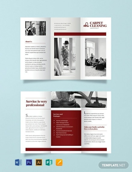carpet cleaning business brochure format