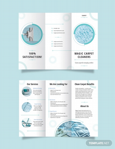 carpet cleaning tri fold brochure template