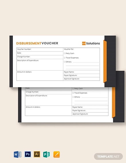 cash disbursement voucher template