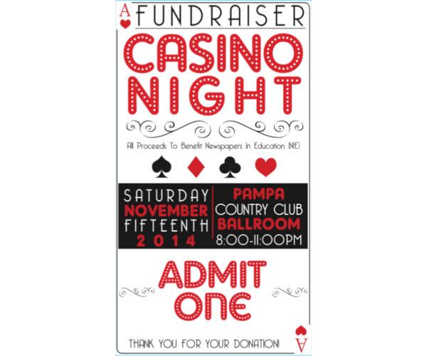 casino night fundraiser ticket