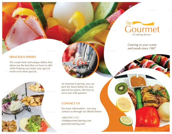 catering brochure for event template