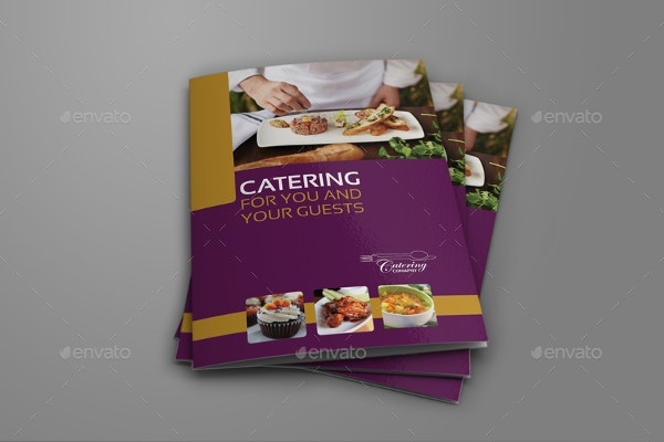 catering event bi fold brochure