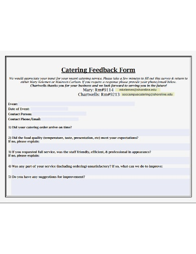 catering-feedback-form-template