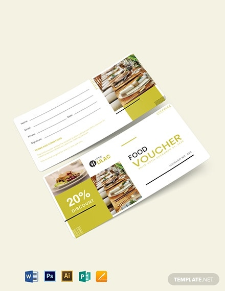 catering services food voucher format
