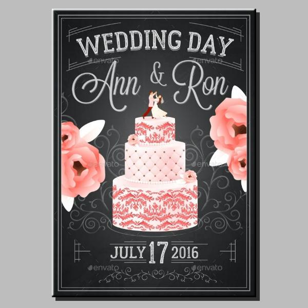 Chalkboard Wedding Day Poster Example