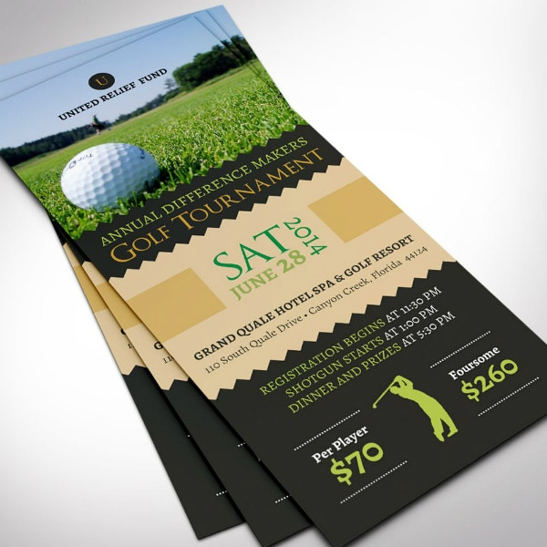 charity golf tournament ticket example