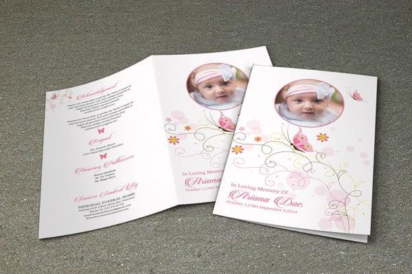 child funeral program design