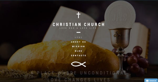 christian church bootstrap compatible wordpress theme