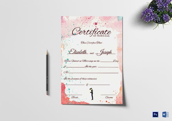 christian wedding certificate template
