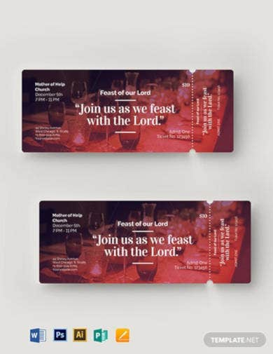 church-banquet-ticket-template