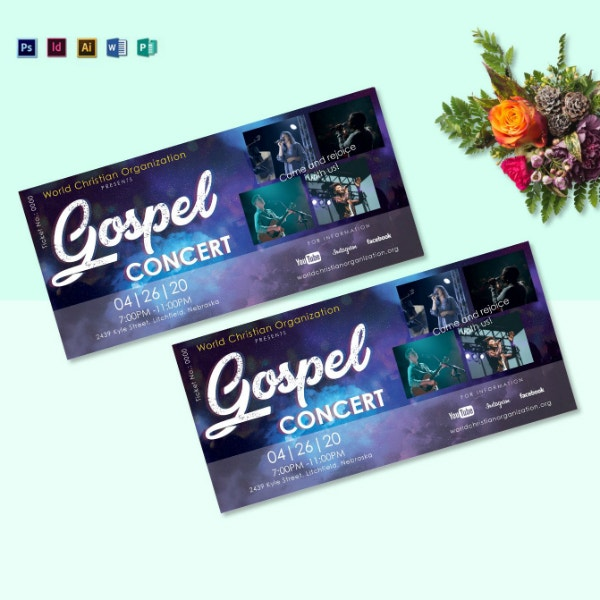 church gospel concert ticket template