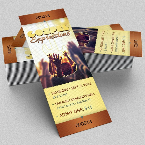 Church Gospel Expressions Ticket Sample