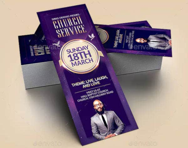 church-service-ticket-template