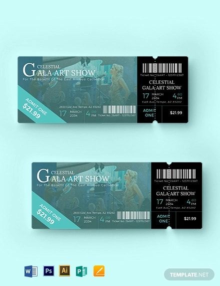 church service ticket template1
