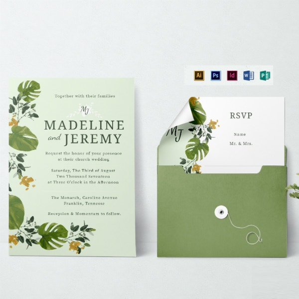 church wedding ceremony invitation layout